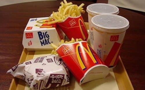 Продукция Макдональдс на изображении
