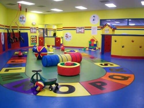 Частный детский сад показан на фото