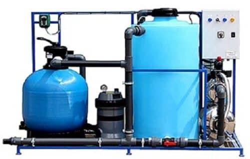 На снимке пример очистного оборудования для воды на автомойке