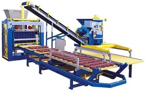 Один из вариантов мини-завода по производству тротуарной плитки на фото